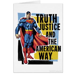 Verdad, justicia tarjeta de felicitación