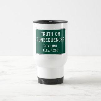 Verdad o consecuencias, marcador del camino, New Taza De Viaje