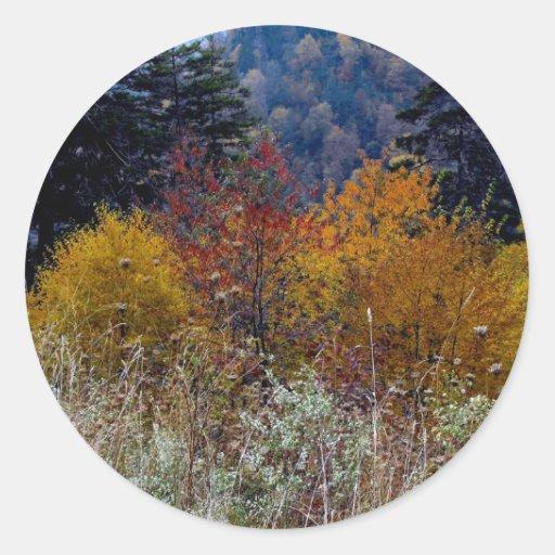 Verdad otoño de la montaña de Smokie Etiqueta Redonda