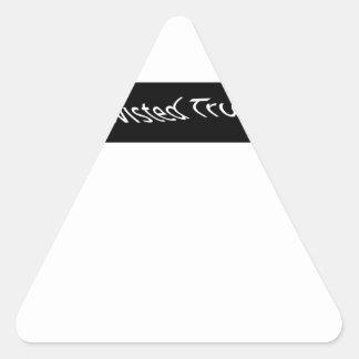 verdad torcida pegatina triangular