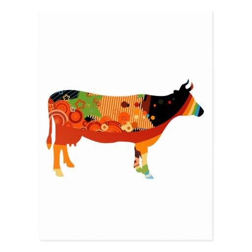 Verdad vacas coloreadas sustanciosas de Amoozing Tarjeta Postal