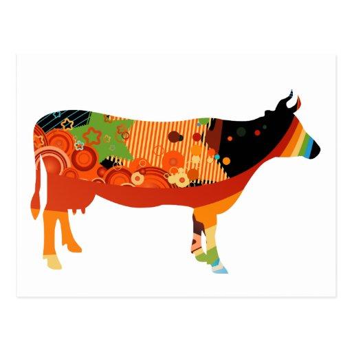 Verdad vacas coloreadas sustanciosas de Amoozing Tarjetas Postales