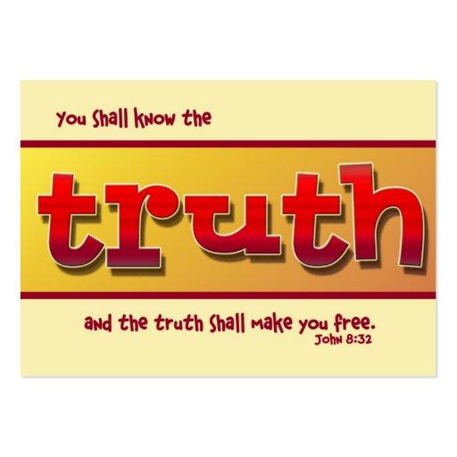 Verdad y calidad tarjetas de visita grandes