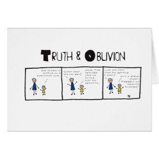 Verdad y olvido #13 tarjeta de felicitación