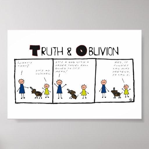 Verdad y olvido - unicornios póster
