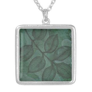 Verdant Green Leaf Nature Necklace