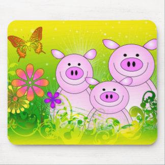 Verdant Pigs Mouse Pad