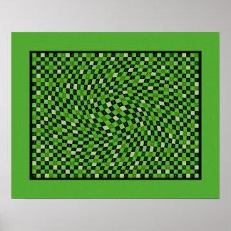 Verde 1200 pedazos de pi póster