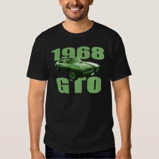 Verde 1968 del coche del músculo de Pontiac GTO Camisas