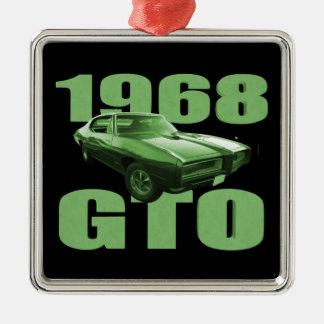 Verde 1968 del coche del músculo de Pontiac GTO Adorno
