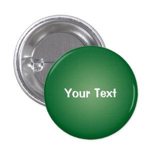 """Verde 1 1/4"""" plantilla de encargo del botón del te pin redondo de 1 pulgada"""