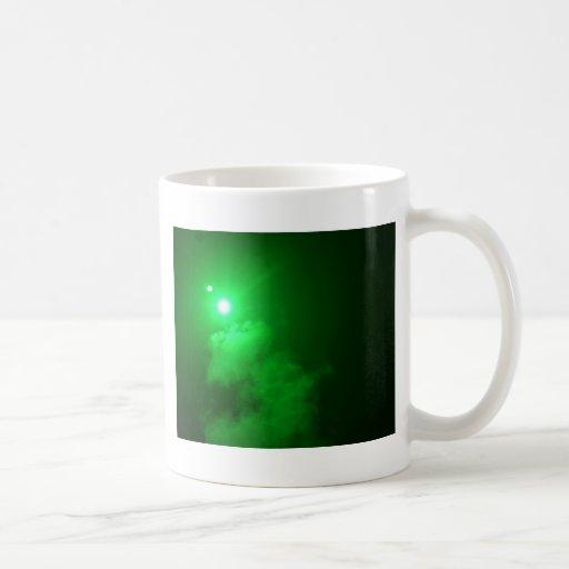 Verde 1 del chaparrón taza de café