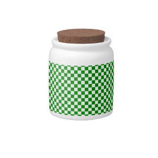 - Verde 1 - Offwhitegreen a cuadros y verde Platos Para Caramelos