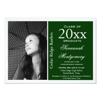 Verde 2015 de las invitaciones de la graduación de invitación 11,4 x 15,8 cm