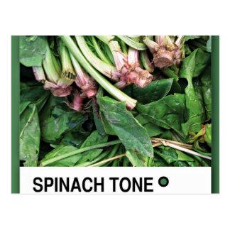 Verde 285-1 del tono de la espinaca tarjeta postal