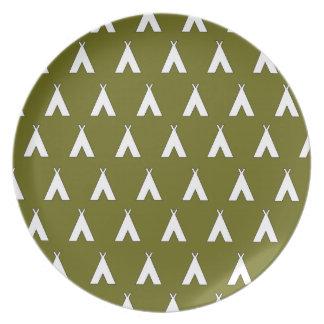 verde 2 de la tienda de los indios norteamericanos platos