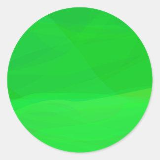 Verde 2 pegatina redonda