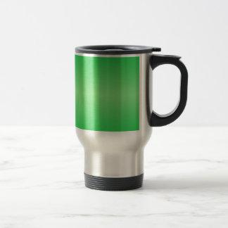 Verde 3 - Verde en colores pastel y verde claro Taza De Viaje