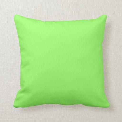 verde 99FF66 Cojines