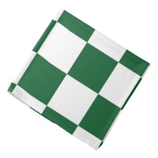 Verde a cuadros y blanco