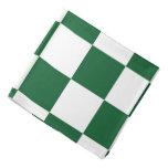 Verde a cuadros y blanco bandana