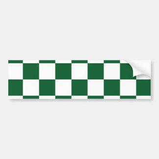 Verde a cuadros y blanco pegatina para auto