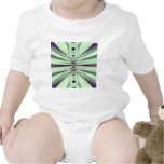 Verde abstracto camisetas