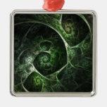 Verde abstracto de la piel de serpiente adorno
