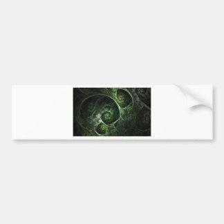 Verde abstracto de la piel de serpiente pegatina de parachoque