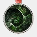 Verde abstracto de la piel de serpiente ornamentos de reyes