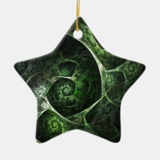 Verde abstracto de la piel de serpiente adornos de navidad