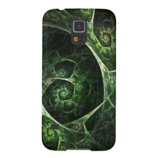 Verde abstracto de la piel de serpiente carcasas de galaxy s5
