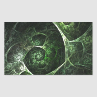 Verde abstracto de la piel de serpiente rectangular pegatinas