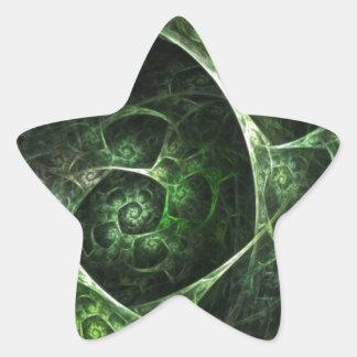 Verde abstracto de la piel de serpiente colcomanias forma de estrella