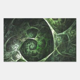 Verde abstracto de la piel de serpiente pegatina rectangular