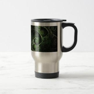 Verde abstracto de la piel de serpiente tazas