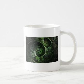 Verde abstracto de la piel de serpiente tazas de café