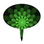 Verde abstracto decoraciones de tartas
