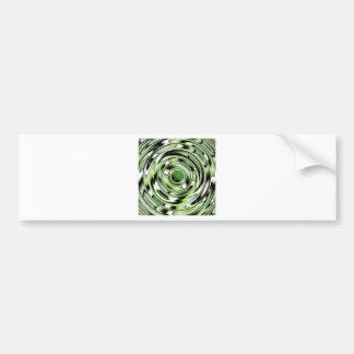 Verde abstracto del círculo diseñado por Tutti Pegatina Para Auto