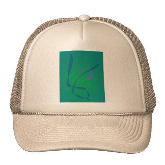 Verde abstracto del conejo gorras de camionero