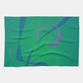 Verde abstracto del conejo toalla de cocina