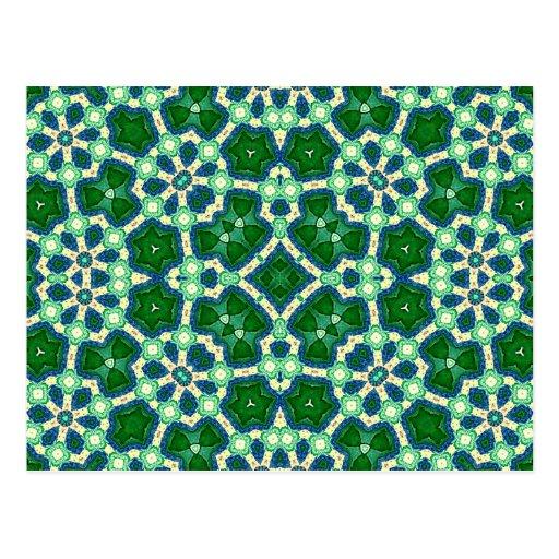 Verde abstracto del modelo postal