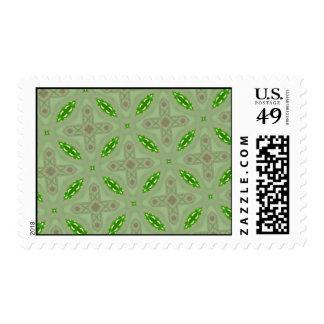 Verde abstracto del modelo sello