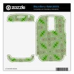 Verde abstracto del modelo BlackBerry bold calcomanía