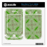 Verde abstracto del modelo skins para BlackBerry