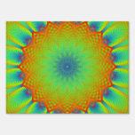 Verde abstracto del pixel del fractal del girasol