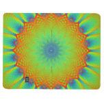 Verde abstracto del pixel del fractal del girasol cuaderno