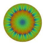 Verde abstracto del pixel del fractal del girasol juego de fichas de póquer