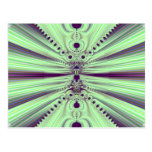 Verde abstracto postal