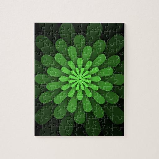 Verde abstracto puzzle
